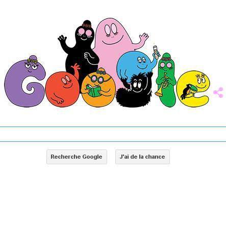 Depuis ce matin, les internautes sont accueillis sur la page Google par une animation des Barbapapa, les personnages de dessin animé colorés et polymorphes.  http://www.elle.fr/Loisirs/Television/Google-fete-les-45-ans-des-Barbapapa-avec-un-Doodle-2951550
