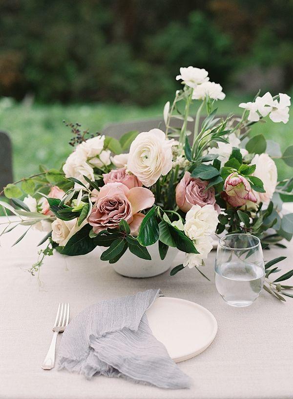 Centerpiece   Romantic Floral Wedding Inspiration By Sara Weir Photography