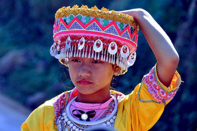 Laos-Hmong girl- festival hmong near Phongsali (Explore) | Flickr