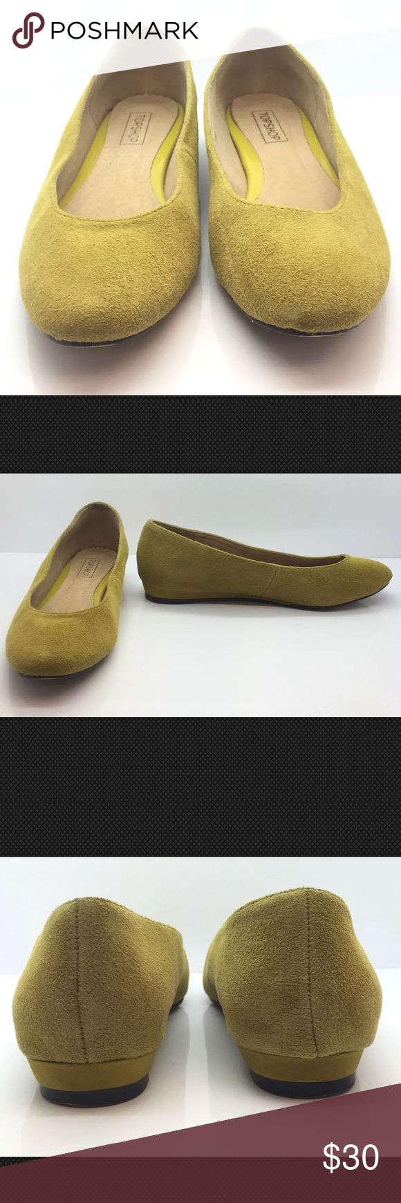 TOPSHOP Yellow Suede European Ballet Flats 7M Cute TOPSHOP Yellow Suede European Comfort Ballet Flats Woman's 37EU 7M Cute!!!  Cute TOPSHOP Flats In good preowned condition please see photos. Comes from a pet and smoke free home. Topshop Shoes Flats & Loafers