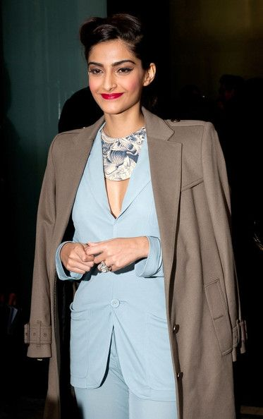 Actress Sonam Kapoor in Jean Paul Gaultier at the Gaultier Couture Show in Paris. Love, love, love.