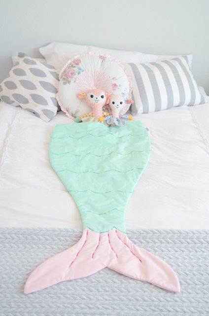 whimsical tails mermaid tail blanket
