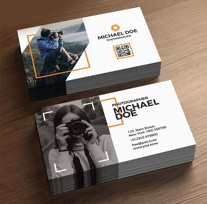 free download stylish photographer business cards template