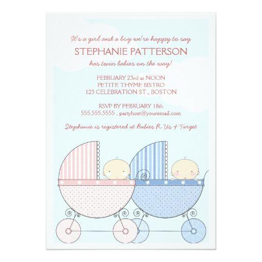 de  bästa twins baby shower giftsbilderna på, Baby shower invitation