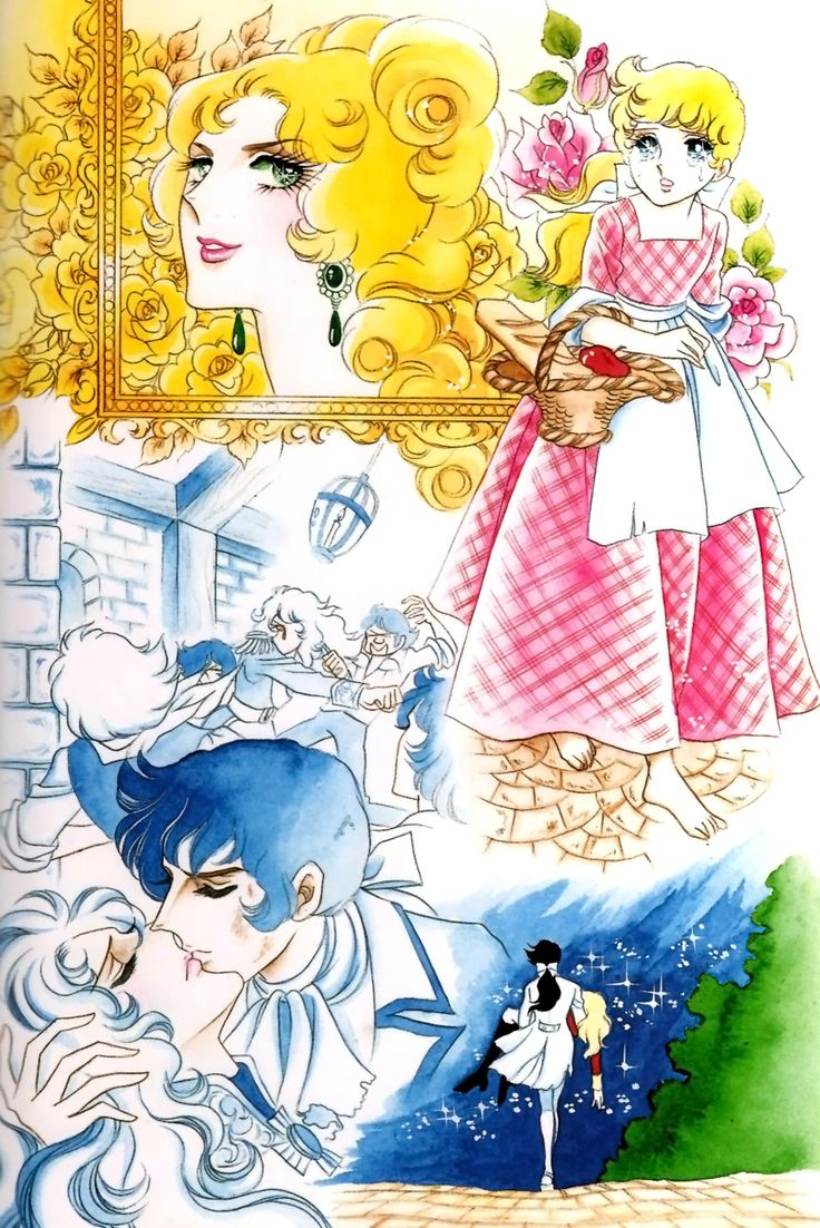 "Original artwork by Ms. Riyoko Ikeda from ""la Rose de Versailles""."