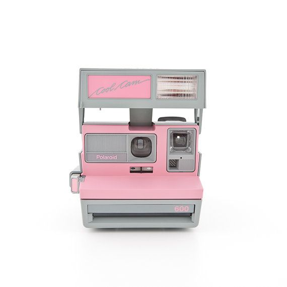Polaroid Cool Cam Pink and Grey with carrying by ShutterLightOC