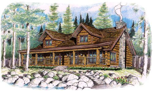 1000 images about log home floor plans on pinterest for Concrete log home plans