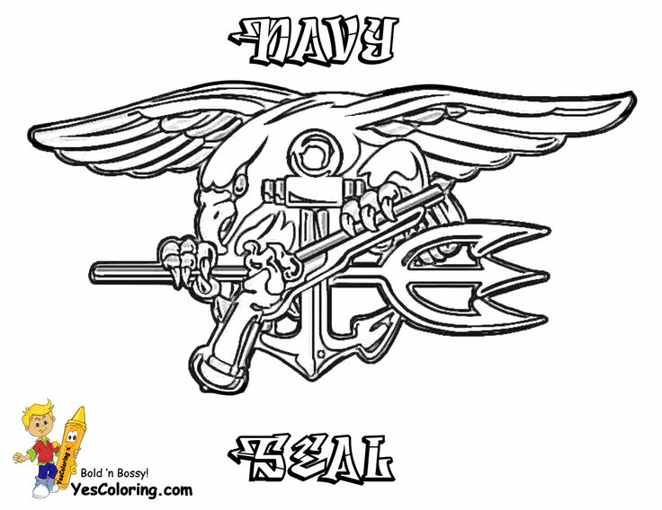 Navy Seals Embroidery Patterns Coloring Pages Army