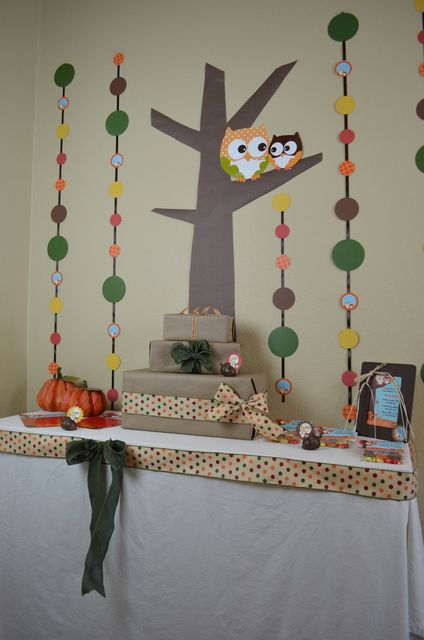 "Photo 1 of 26: Fall Owls / Baby Shower/Sip & See ""Fall Owl Baby Shower"" 