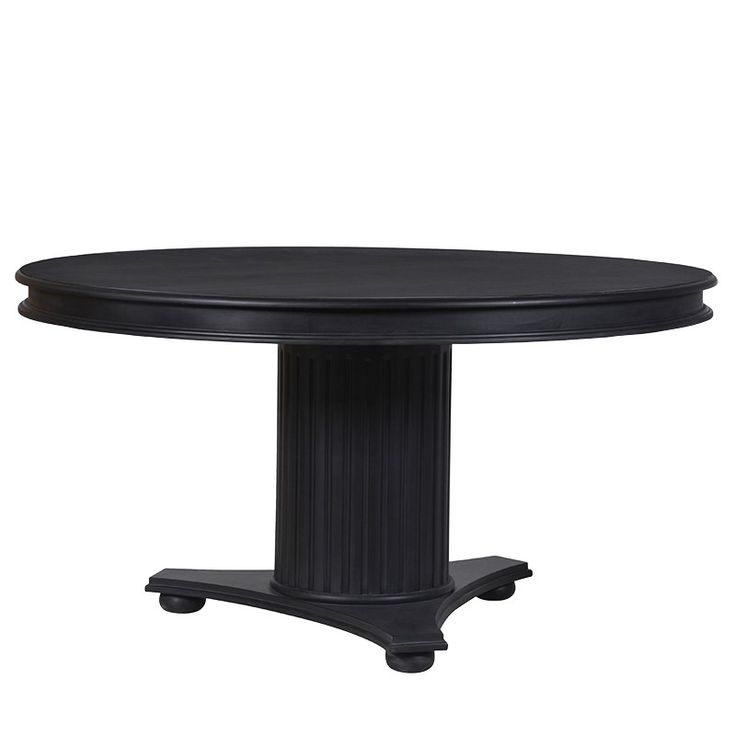 chelsea black round dining table
