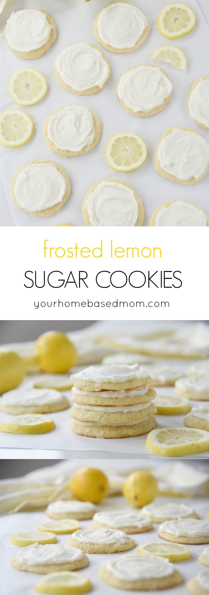 The addition of lemon juice and lemon zest to these frosted lemon sugar cookies is like enjoying a tall glass of lemonade on a warm summer day!