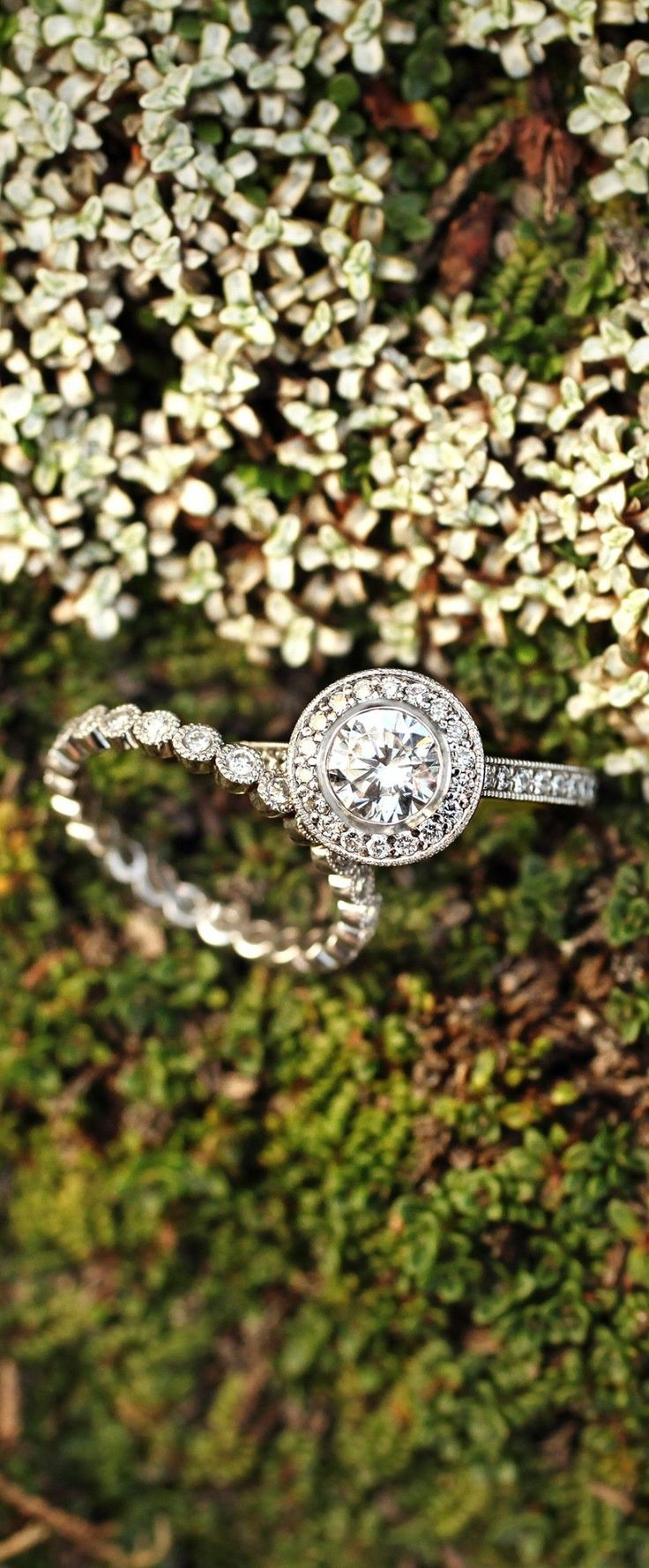 Love the simple elegance of this dazzling diamond engagement ring.