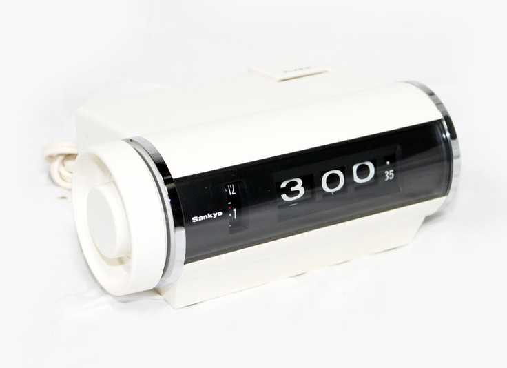 Mod White Nib Flip Clock By Sankyo Flip Clock Flipping: white flip clock