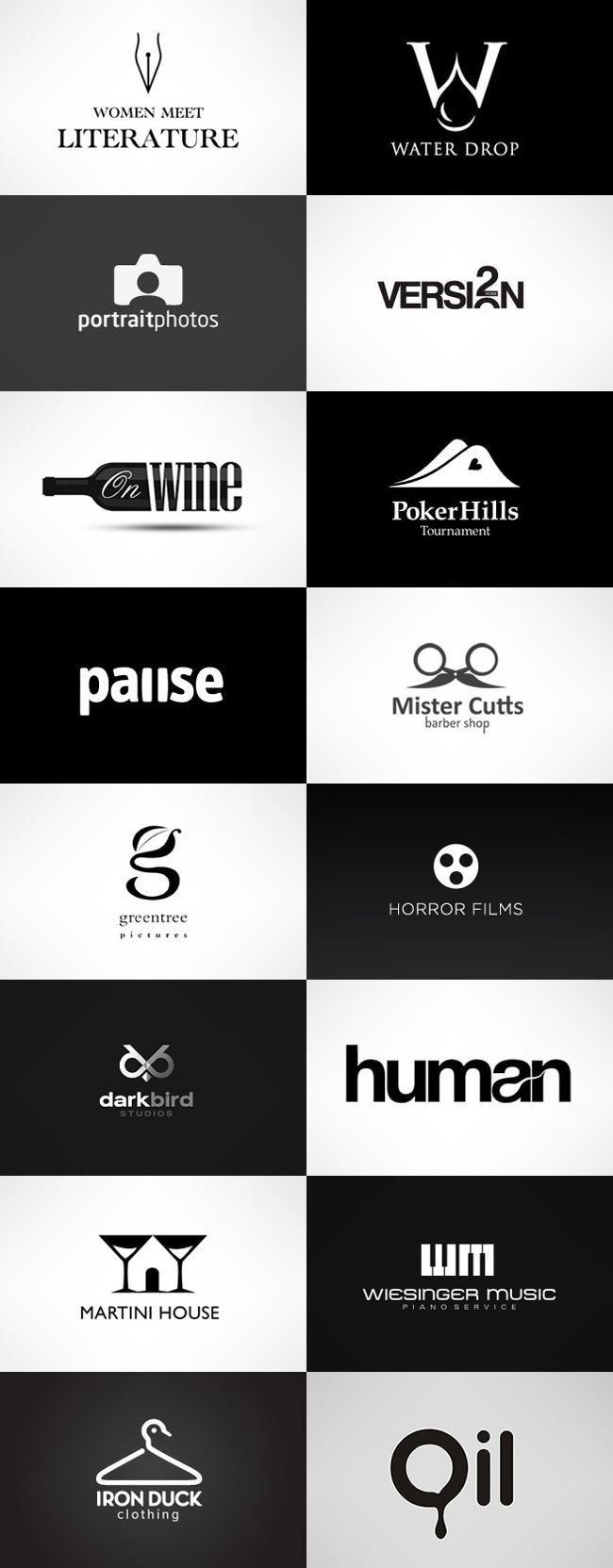 grafiker.de – Logo-Inspiration: Black & White #Log…
