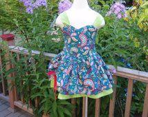 Поппи обнаженные яркие пейсли печати платье с синих, красных, и зеленых,
