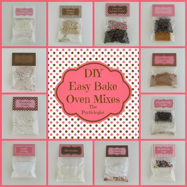 DIY Easy Bake Oven mixes by The Partiologist