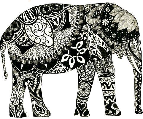 Elephants tattoo elephants art a tattoo zentangle art projects