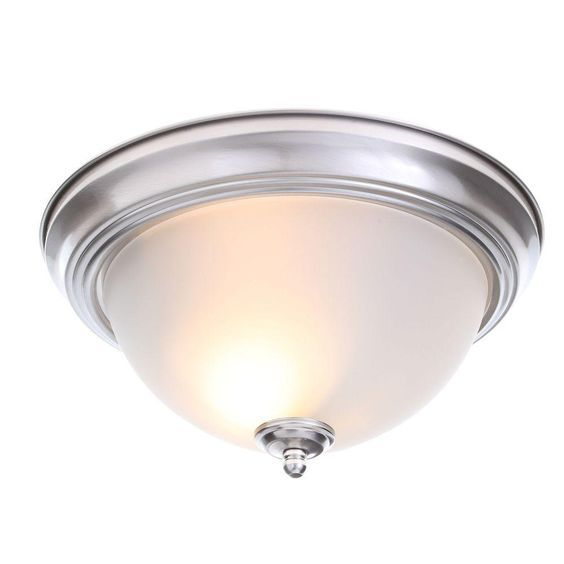 Kitchen, WIC, laundry room, 2 front rooms. Commercial Electric 2-Light Brushed Nickel Flushmount (2-Pack)-EFG8012A-BN - The Home Depot
