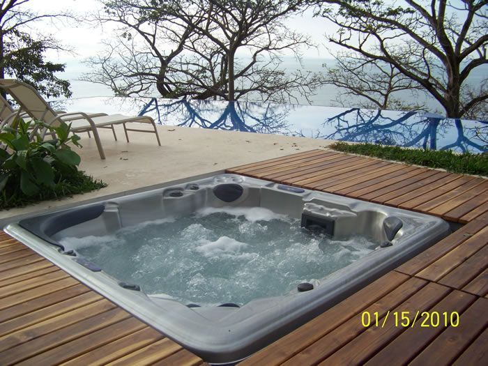 22 best Hot Tub Ideas for the Garden images on Pinterest   Bubble ...