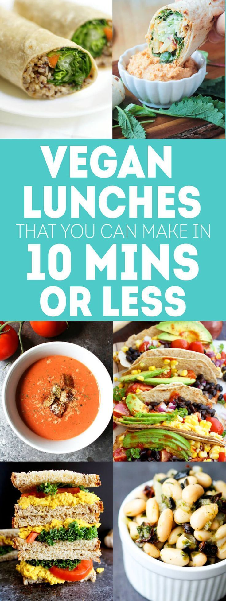 Vegan Lunch Recipes You Can Make in 10 Mins or Less!