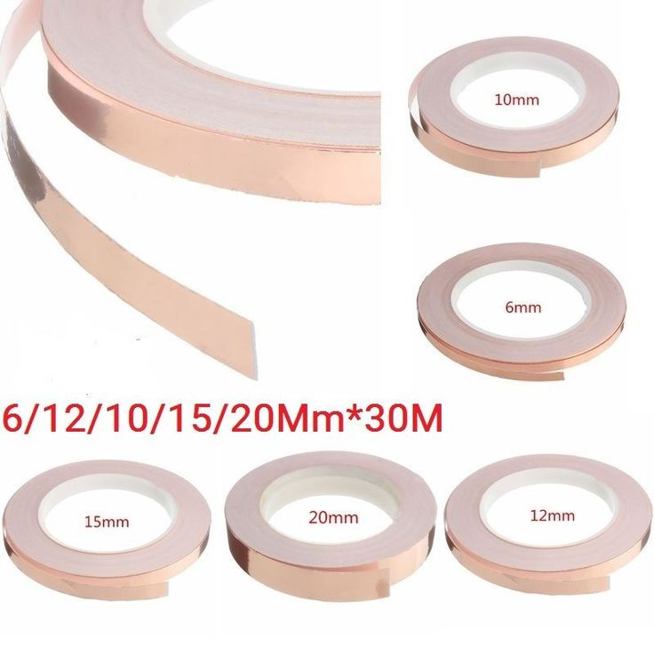 Use copper tape on walls to make pretty patterns - cheaper than wallpaper! 1 Roll/ 2 Rollsx Copper Foil Tape (As your choice). Products are mainly used to eliminate electromagnetic interference EMI, isolation of the harm of electromagnetic wave to human body, is mainly used in computer peripheral wire, computer monitors and transformer manufacturers. | eBay!