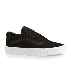 Vans Skate Shoes - Vans Old Skool Waffle Wall Shoes - Black/True White