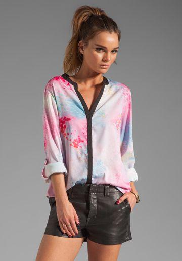 SANCTUARY Oasis Cafe Blouse in Oasis Print