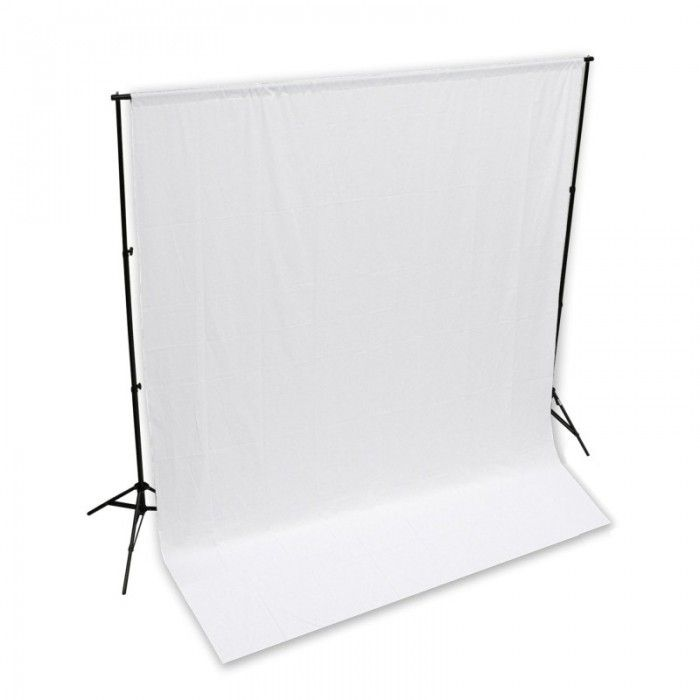 The Hypop Backdrop Stand and cotton musilin backdrop is perfect for any studio setup. When paired together, you'll be ready to shoot the perfect finish for catalogue, glamour, model, professional photos and videos. This kit comes with a Heavy Duty backdrop stand and your choice of one Hypop high quality cotton musilin backdrop.