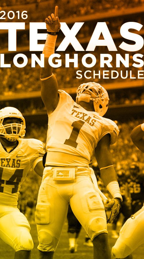 2016 Texas Longhorn Football Schedule. Kick-off vs Notre Dame in less than 42 days! #tailgate #longhorns #football #texastailgating #footballschedule #tailgatemyth #tailgating #texastailgate #powtailgating #longhorntailgate #longhorns #football