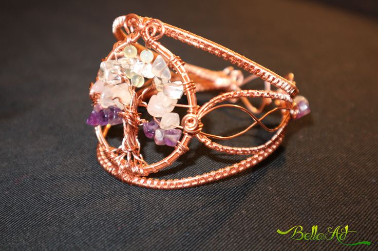 Wire tree of life bracelet
