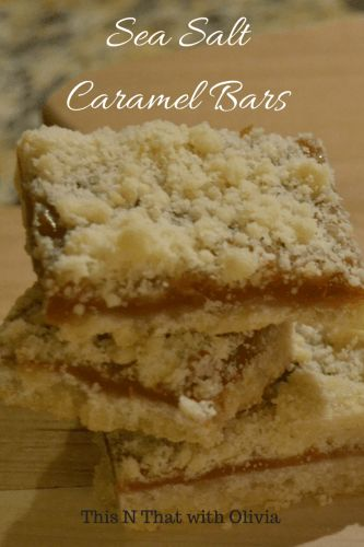 Sea Salt Caramel Bars Recipe #Recipe #Dessert #Foodblogger #Foodie #KidFriendly