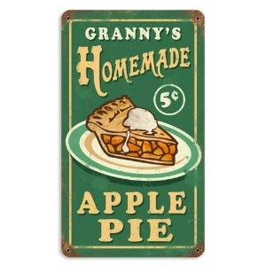 Granny's Apple Pie Food and Drink Vintage Metal Sign - Victory Vintage Signs