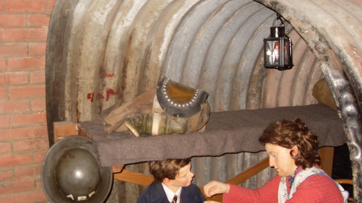 Anderson Shelter at The Discovery Museum in Newcastle-upon Tyne