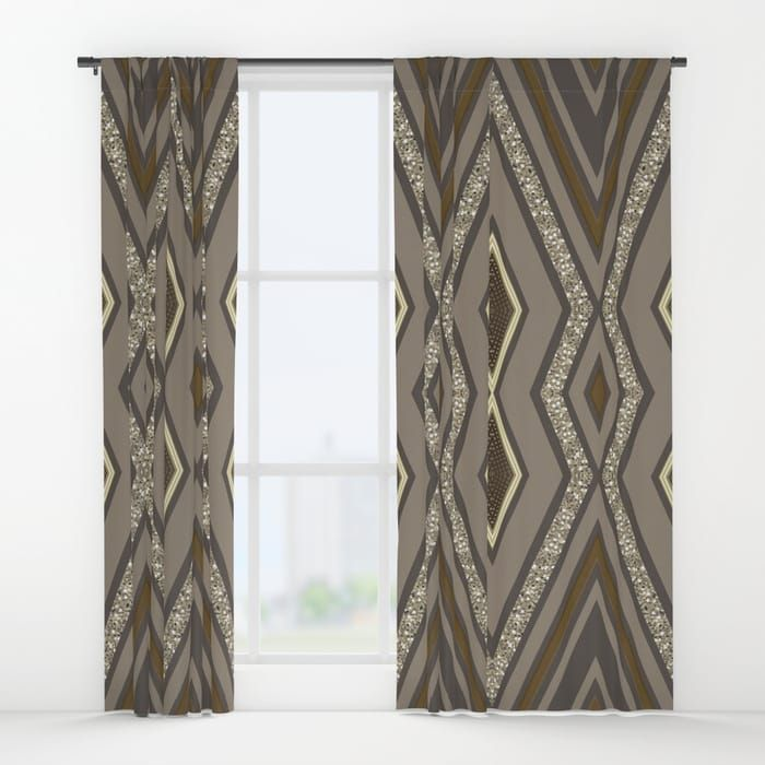 Geometric Rustic Glamour Curtains