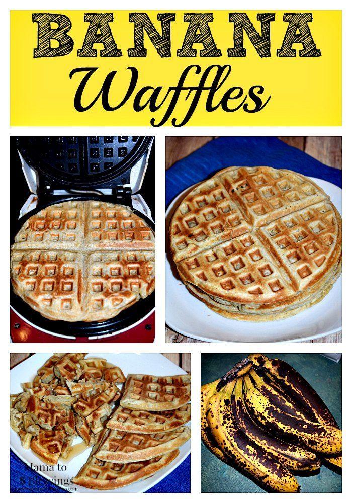 Save The Ripe Banana's To Make Banana Waffles!  Homemade Banana Waffle Recipe http://mamato5blessings.com/2016/03/save-ripe-bananas-make-banana-waffles/