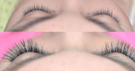 Natural looking eyelash extensions :D  Eyelash extensions review. :D