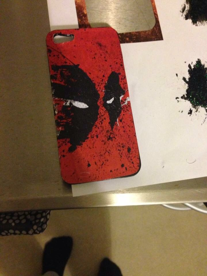 Deadpool diy iphone 5 cover
