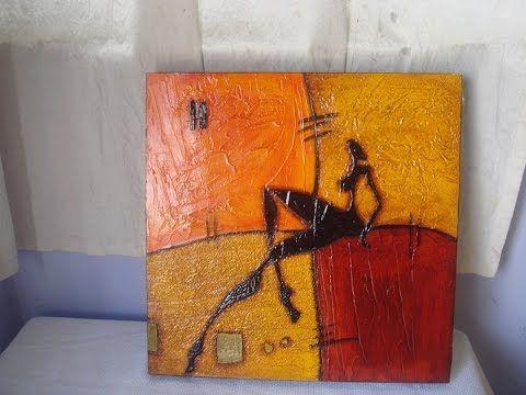 Manualidades cuadros abstractos 02 by taller dnella - Pinturas para pintar madera ...