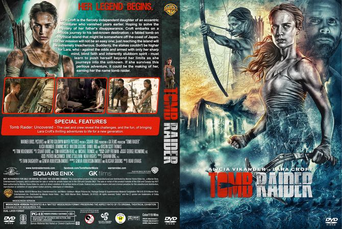 Tomb Raider DVD Custom Cover | Custom DVD Cover Designs | Cover