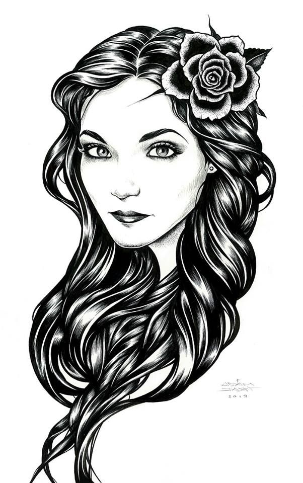 This is a graphic of Dashing Hispanic Girl Drawing