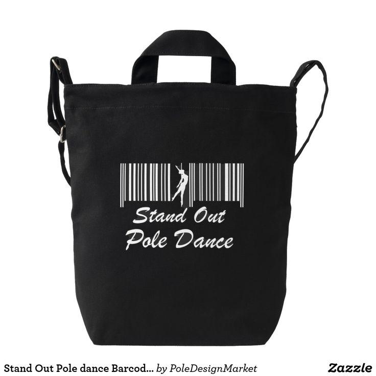 Stand Out Pole Dance Barcode Bag Black  #PoleFitness #PoleDance
