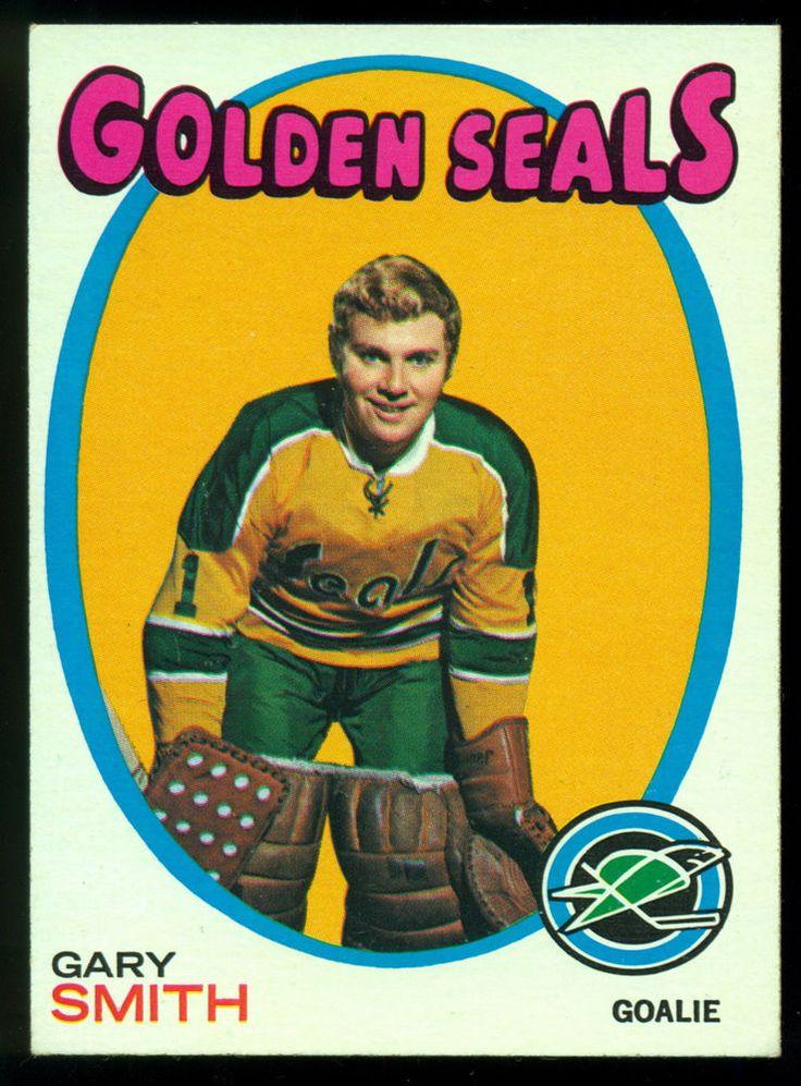 1971 72 TOPPS HOCKEY #124 GARY SMITH NM CALIFORNIA GOLDEN SEALS FREE SHIP TO USA #goldenseals