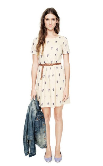 Casual spring outfit #Madewell--I'd just like the dress to be a bit longer...