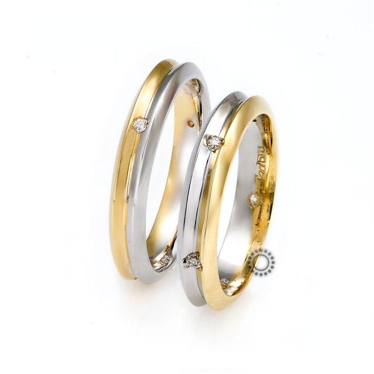 Βέρες γάμου Facadoro 18Α/18Γ - Ένα μοντέρνο σχέδιο από δίχρωμες βέρες FaCadoro | Κόσμημα-Ρολόι ΤΣΑΛΔΑΡΗΣ στο Χαλάνδρι #βέρες #βερες #γάμου