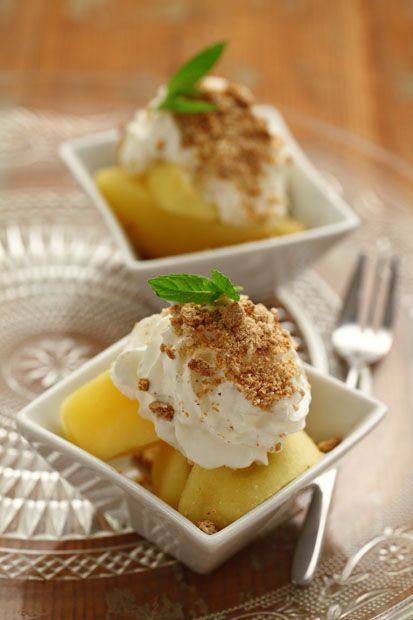 #Mele alla #panna  #Cirio, gusta la nostra #ricetta. #apple #cream #cirio #dessert #dessertrecipes #sweet #fruit