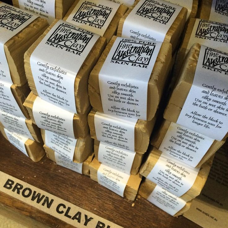 """33 Likes, 2 Comments - Corrynnes Natural Soaps (@corrynnesnaturalsoap) on Instagram: """"Clay Block For Body Use this little block in the shower wet to buff your skin - is mildly…"""""""