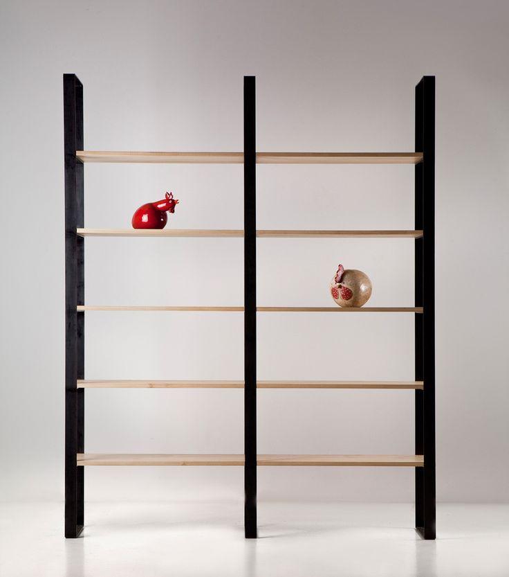 Libreria in ferro e toulipier Iron and toulipier bookcase