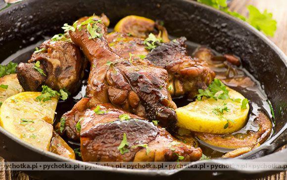 Duszony kurczak cytrynowy