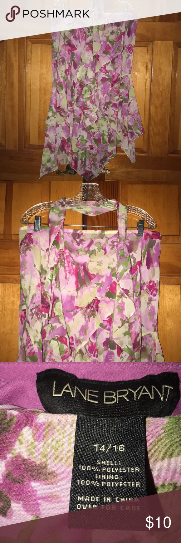 Beautiful flowered skirt with peaks! This is a beautiful skirt that I have dressed up or down. It's elegant enough to wear with a beautiful silk blouse, and casual enough to wear with a jean jacket. Lane Bryant Skirts Maxi