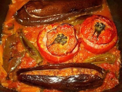 Фаршированные помидоры и баклажаны. Толма по-грузински (12)